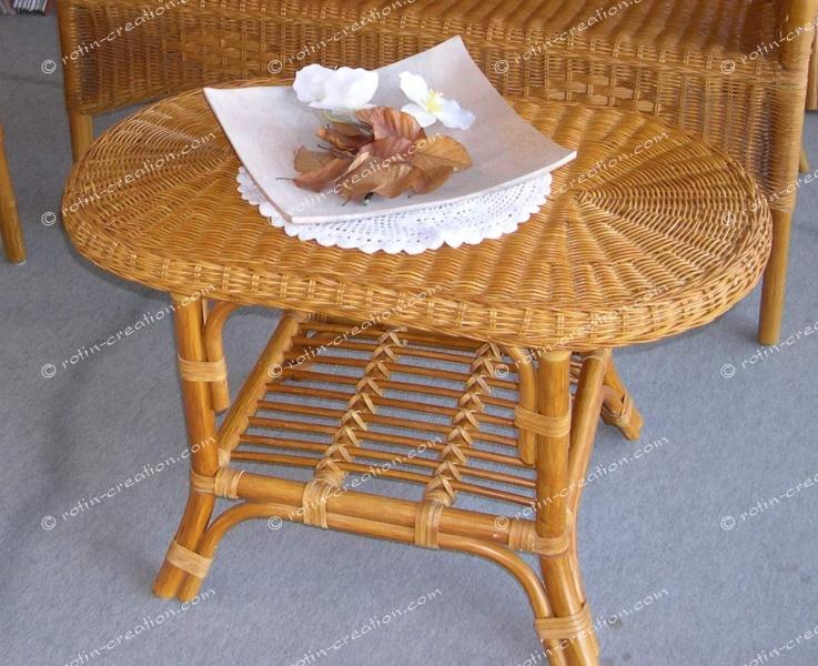 Table de salon leza ovale table de salon ovale en moelle Table de salon ovale